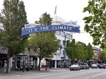 It`s the climate Sign in Grants Pass, Oregon Stock Photo