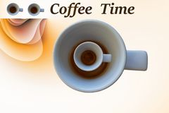 It`s coffee time. Relaxing here Royalty Free Stock Photos