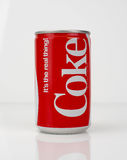 1980s Coke Can - vintage and retro. 1980s retro vintage Coke soda can stock images