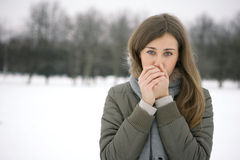 It's cold outside Stock Photos