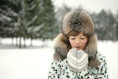 It's cold outside Stock Photo