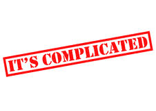IT`S COMPLICATED Stock Images