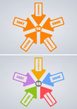 5S Concept. An illustration of 5S Concept in color and monochrome Vector Illustration