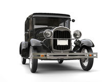 1920s cool black oldtimer car. Isolated on white background Royalty Free Stock Photography