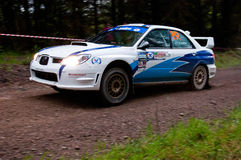 S. Cullen driving Subaru Impreza Stock Photo