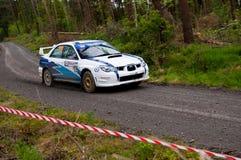 S. Cullen que conduz Subaru Impreza Fotografia de Stock Royalty Free