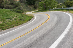 S Curve on California Road Stock Photos