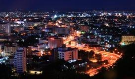 S Curve Freeway to Pattaya City Royalty Free Stock Photos
