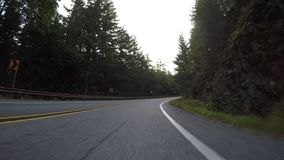 S Curve in North Cascades mountains. In Washington stock footage