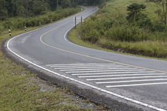 S curve road Stock Photography