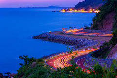The S curve road. Seaside stock photography
