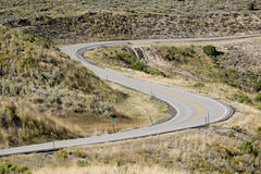 S-curve in roadway Royalty Free Stock Photo