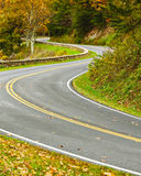 S-Curved Road On Skyline Drive Stock Photography