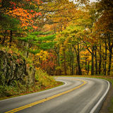 S-Curved Road On Skyline Drive Royalty Free Stock Image