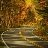 S-Curved Road On Skyline Drive Royalty Free Stock Photography