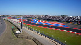 S curves at the Inaugural Circuit of the America. Stock Photos