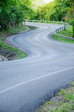 S - curves road. Royalty Free Stock Image