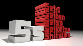 5s. 3d design. 5s manufacturing concepts Vector Illustration