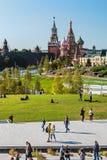 ` S da manjericão do St da catedral de Pokrovsky e Kremlin de Moscou imagem de stock royalty free