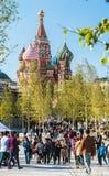 ` S da manjericão do St da catedral de Pokrovsky e Kremlin de Moscou fotos de stock royalty free