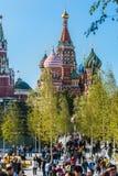 ` S da manjericão do St da catedral de Pokrovsky e Kremlin de Moscou imagens de stock royalty free
