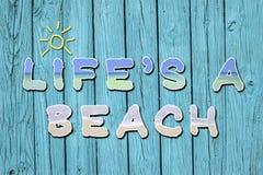 ` S da vida umas citações inspiradores da praia Foto de Stock Royalty Free