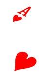 Ás de corações Imagem de Stock