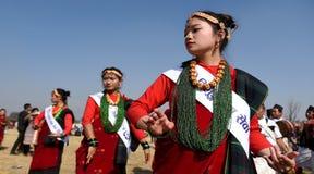 ` S DE DAME DE NEPALI Image stock