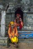 ` S de festival et de baba de Shivratri au temple de Pashupatinath Images libres de droits