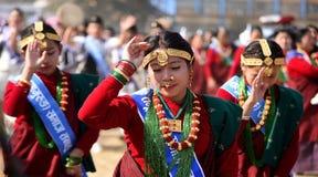 ` S DE LA SEÑORA DEL NEPALI Fotos de archivo