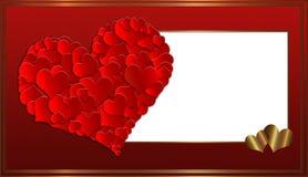 ` S de la tarjeta del día de San Valentín de la colección de la tarjeta del corazón Imagen de archivo