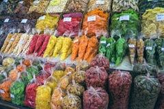 ` S de Naschmarkt Viena la mayoría del mercado popular Imagen de archivo libre de regalías
