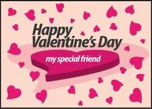 S de speciale liefde van de valentijnskaart royalty-vrije illustratie