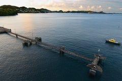 ` S de St George - nascer do sol na baía e no porto Foto de Stock Royalty Free
