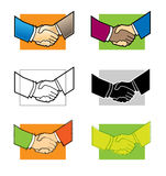 It's a Deal. 6 Handshake graphics available in Illustrator and Jpeg Royalty Free Stock Images