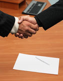 It's a deal. Successfull deal concept - handshake closeup photo Royalty Free Stock Photo