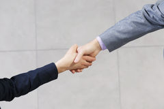 That's deal. Close up of business handshake between two colleagues Royalty Free Stock Photos