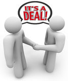 It's a Deal People Buyer Seller Handshake