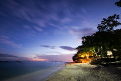 It's December Night. Sunset in panglao island bohol philippines Royalty Free Stock Images