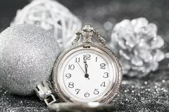 ` S del Año Nuevo en la medianoche Imágenes de archivo libres de regalías