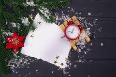 ` S del Año Nuevo o postal de la Navidad Imágenes de archivo libres de regalías