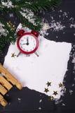 ` S del Año Nuevo o postal de la Navidad Imagen de archivo libre de regalías
