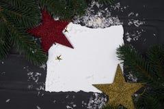 ` S del Año Nuevo o postal de la Navidad Fotos de archivo
