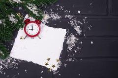 ` S del Año Nuevo o postal de la Navidad Fotografía de archivo libre de regalías