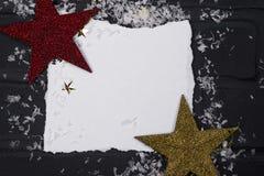 ` S del Año Nuevo o postal de la Navidad Foto de archivo