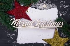 ` S del Año Nuevo o postal de la Navidad Fotos de archivo libres de regalías