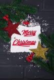 ` S del Año Nuevo o postal de la Navidad Fotografía de archivo