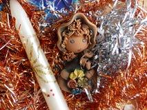 ` S del Año Nuevo y la Navidad Vela del gnomo y de la Navidad El interior del Año Nuevo Imagen de archivo