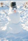 ` S del Año Nuevo y símbolo de la Navidad de un muñeco de nieve del día de fiesta Fotografía de archivo libre de regalías