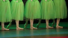 ` S del bailarín de ballet almacen de metraje de vídeo